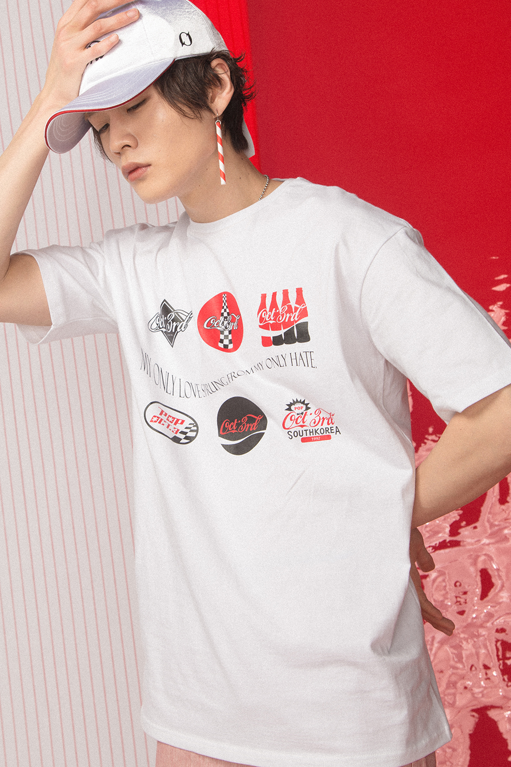 Coke Logo Print T-Shirt_White