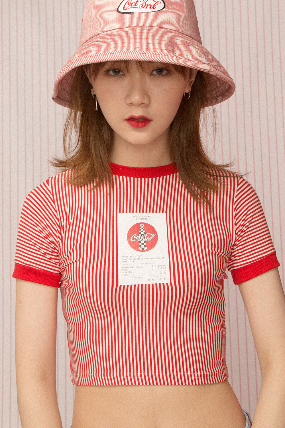 R&J Ticket Stripe Crop T