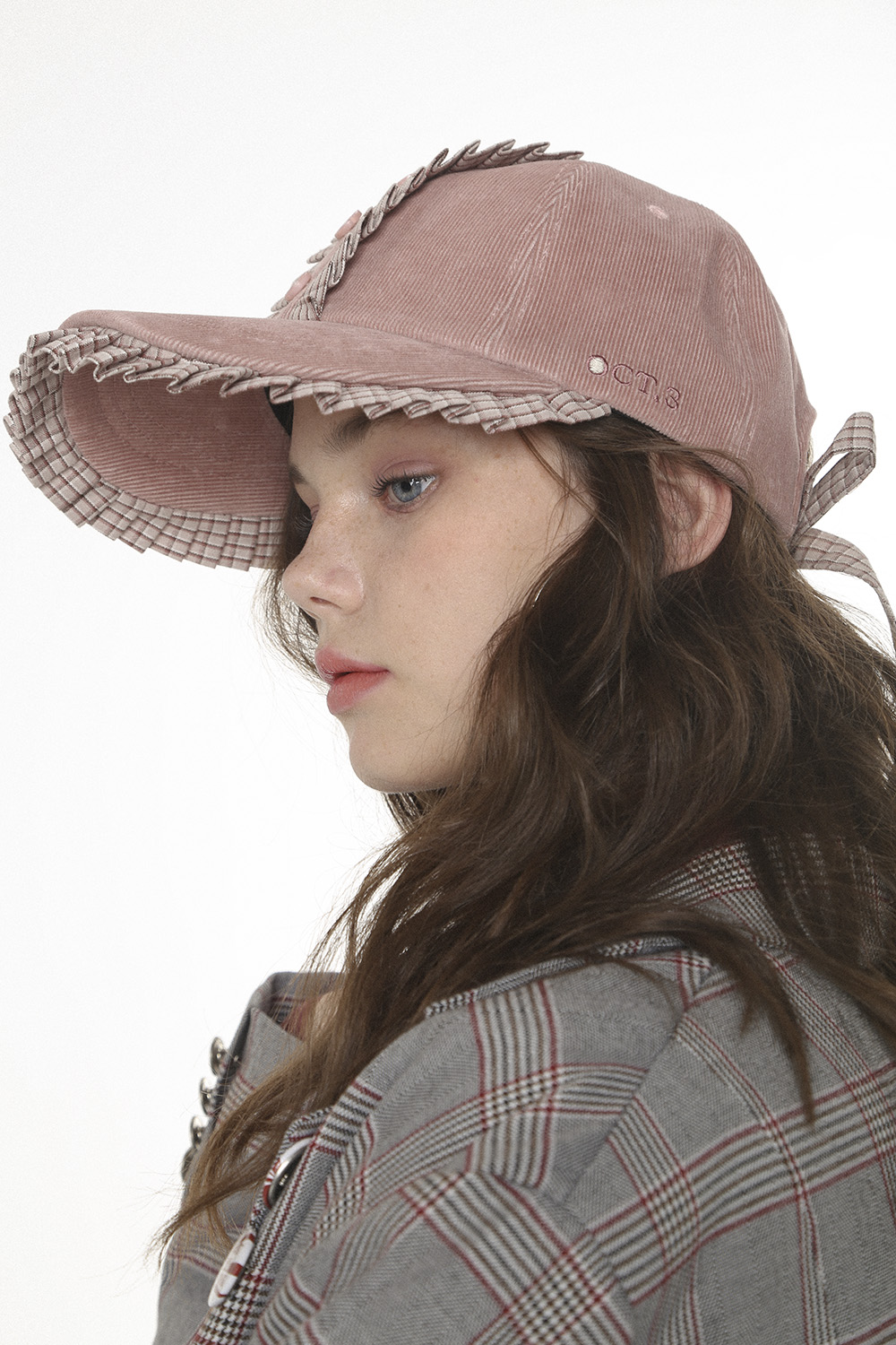 Pleats Shirt Cap [Pink]