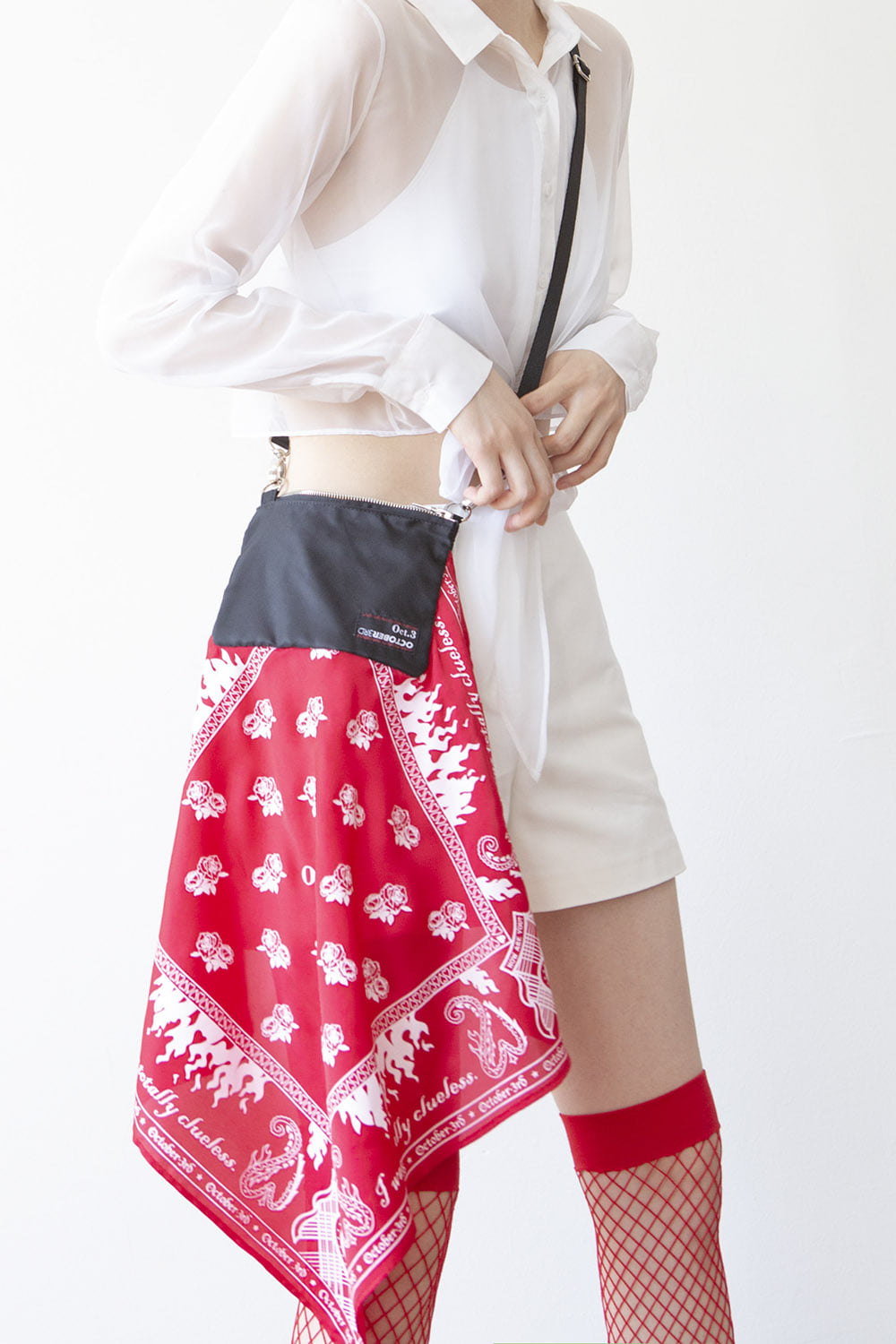 Bandana Cross Mini Bag [Red]