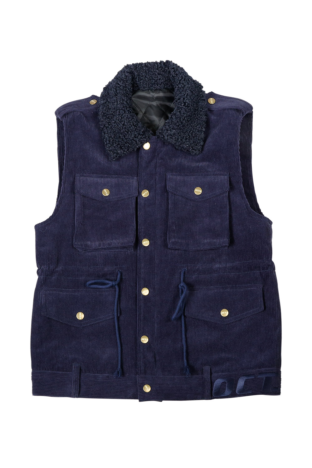 Fur Callor Pocket Vest [Navy Corduroy]